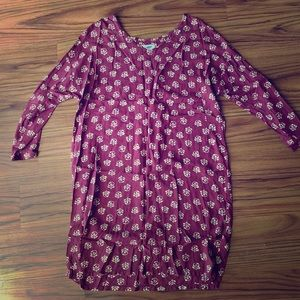 Maroon old navy dress(mid thigh length)
